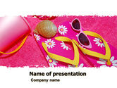 Careers/Industry: At the Beach PowerPoint Template #05219