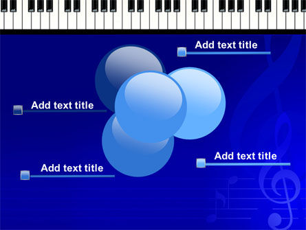 Piano Keyboard On Blue Background PowerPoint Template Slide 10
