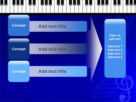 Piano Keyboard On Blue Background PowerPoint Template Slide 12