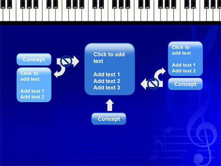 Piano Keyboard On Blue Background PowerPoint Template Slide 13