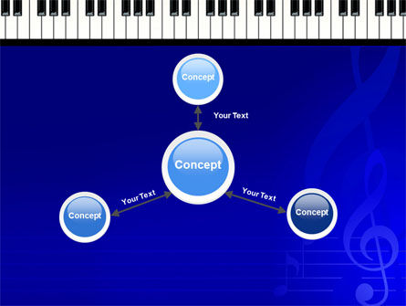 Piano Keyboard On Blue Background PowerPoint Template Slide 14