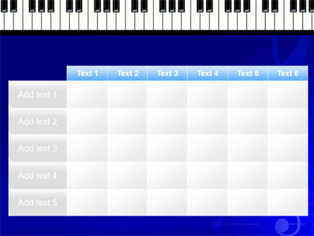 Piano Keyboard On Blue Background PowerPoint Template Slide 15