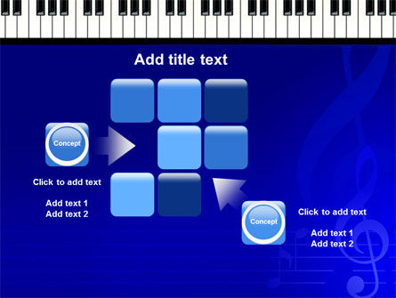 Piano Keyboard On Blue Background PowerPoint Template Slide 16