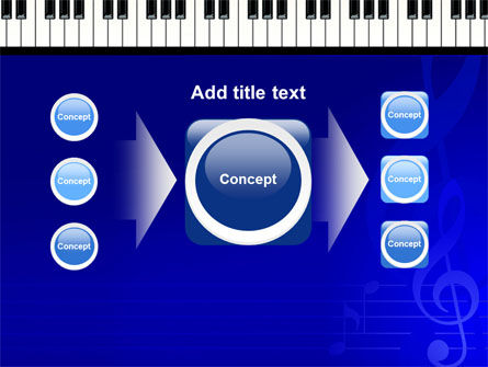 Piano Keyboard On Blue Background PowerPoint Template Slide 17