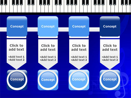 Piano Keyboard On Blue Background PowerPoint Template Slide 18