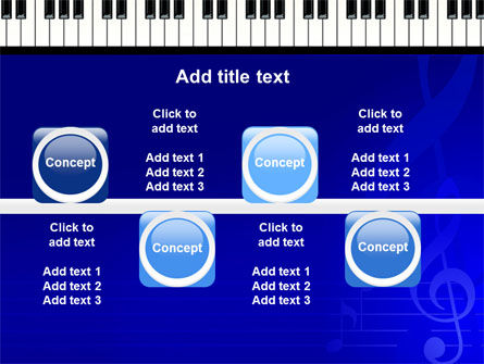 Piano Keyboard On Blue Background PowerPoint Template Slide 19