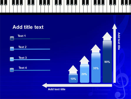 Piano Keyboard On Blue Background PowerPoint Template Slide 8