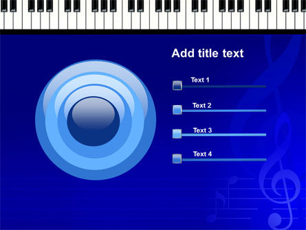 Piano Keyboard On Blue Background PowerPoint Template Slide 9