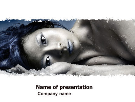 People: Ice Girl PowerPoint Template #05222