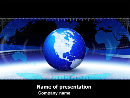 Global Scale PowerPoint Template, 05223, Global — PoweredTemplate.com