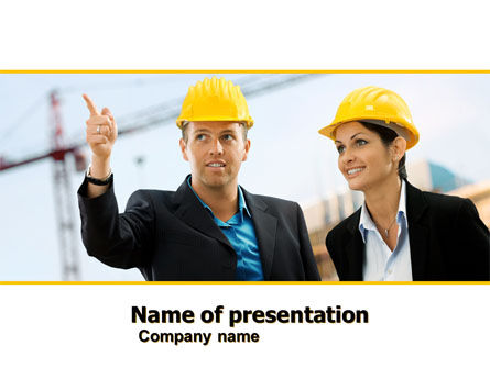 Careers/Industry: Building Engineers PowerPoint Template #05224
