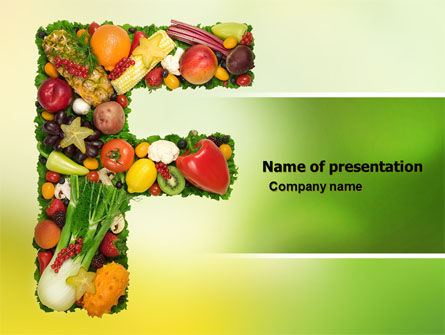 Food Powerpoint Template, Backgrounds | 05225 | Poweredtemplate.Com