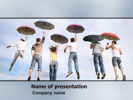 Jump PowerPoint Template, 05228, Business Concepts — PoweredTemplate.com