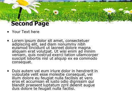 Spring Field PowerPoint Template, Slide 2, 05231, Nature & Environment — PoweredTemplate.com