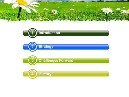 Spring Field PowerPoint Template, Slide 3, 05231, Nature & Environment — PoweredTemplate.com