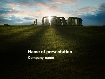 Flags/International: Stonehenge PowerPoint Template #05232