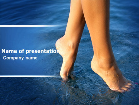 Feet PowerPoint Template, 05233, Nature & Environment — PoweredTemplate.com