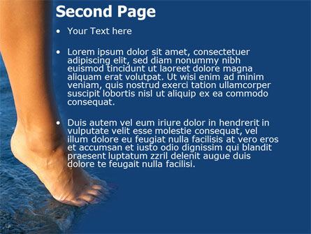 Feet PowerPoint Template, Slide 2, 05233, Nature & Environment — PoweredTemplate.com