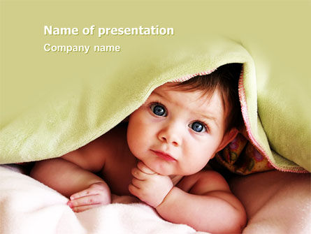 Baby Under Blanket PowerPoint Template, 05234, People — PoweredTemplate.com