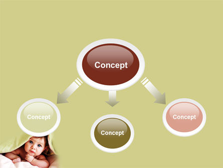 Baby Under Blanket PowerPoint Template, Slide 4, 05234, People — PoweredTemplate.com