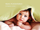 People: Baby Under Blanket PowerPoint Template #05234