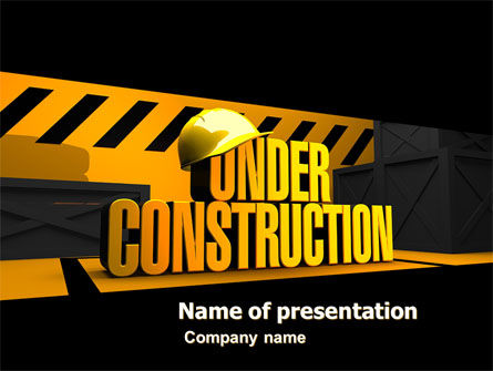 Closed Under Construction PowerPoint Template