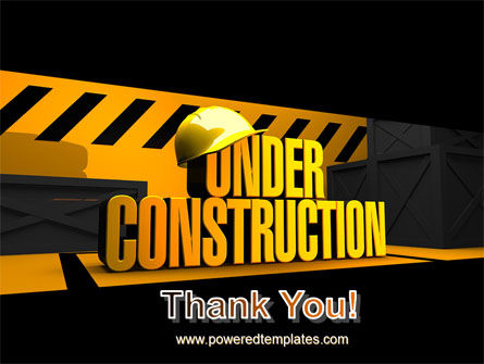 Closed Under Construction PowerPoint Template Slide 20