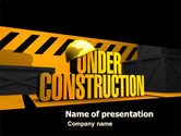 Business Concepts: Closed Under Construction PowerPoint Template #05236