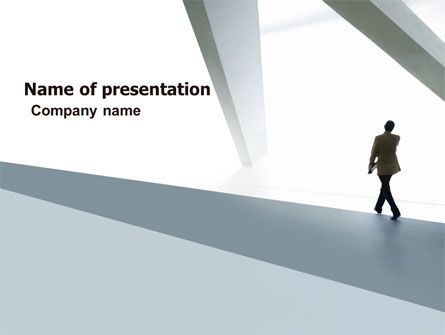 Business: Walking Man Free PowerPoint Template #05240