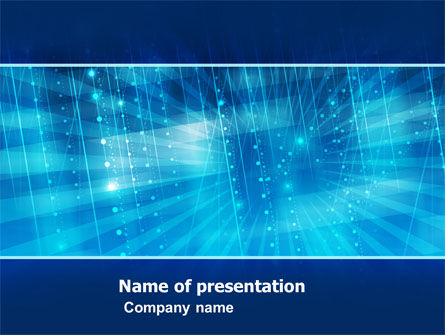 Aqua Abstract PowerPoint Template, 05245, Abstract/Textures — PoweredTemplate.com
