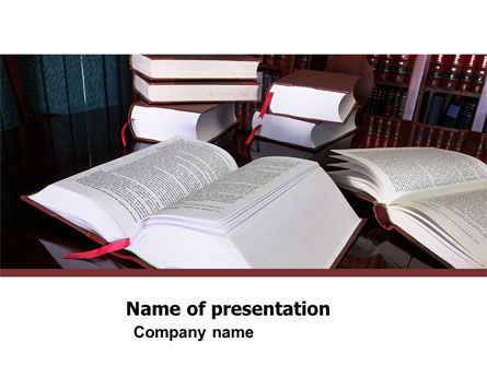 Open Books PowerPoint Template