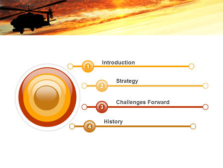 Attack Helicopter PowerPoint Template, Slide 3, 05247, Military — PoweredTemplate.com