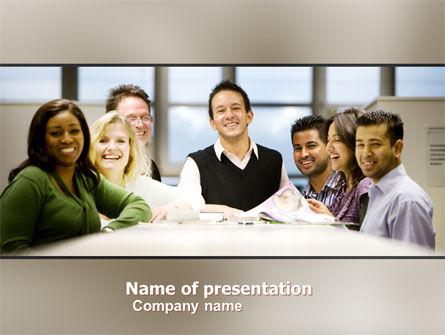 Working Group PowerPoint Template, 05248, Business — PoweredTemplate.com