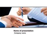 Business: Negotiation In Progress PowerPoint Template #05249