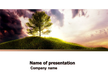 Nature & Environment: Dark And Light PowerPoint Template #05250