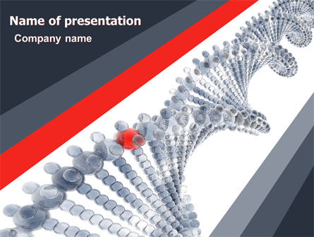 DNA On A Gray Red PowerPoint Template, 05251, Technology and Science — PoweredTemplate.com