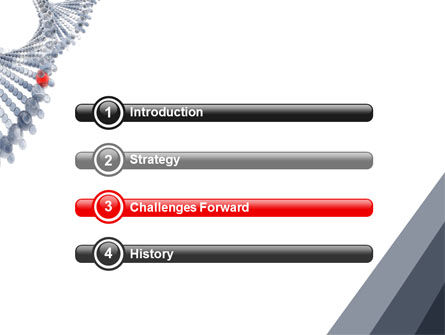 DNA On A Gray Red PowerPoint Template, Slide 3, 05251, Technology and Science — PoweredTemplate.com