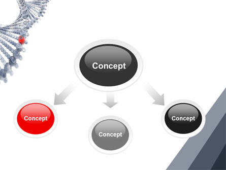 DNA On A Gray Red PowerPoint Template, Slide 4, 05251, Technology and Science — PoweredTemplate.com