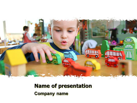Education & Training: Kid Playing In Kindergarten PowerPoint Template #05252