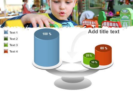 Kid Playing In Kindergarten PowerPoint Template Slide 10