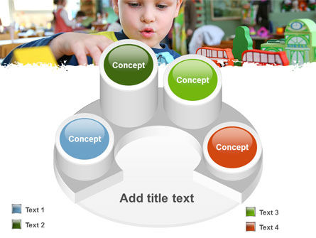 Kid Playing In Kindergarten PowerPoint Template Slide 12