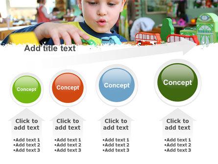 Kid Playing In Kindergarten PowerPoint Template Slide 13