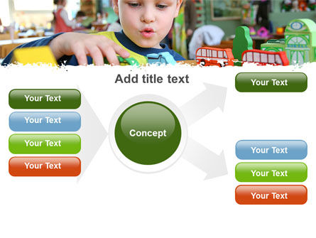 Kid Playing In Kindergarten PowerPoint Template Slide 14