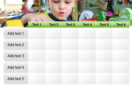 Kid Playing In Kindergarten PowerPoint Template Slide 15