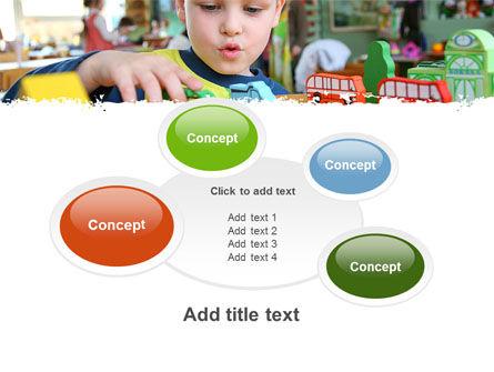 Kid Playing In Kindergarten PowerPoint Template Slide 16