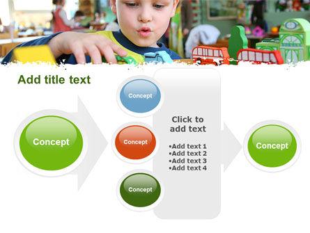 Kid Playing In Kindergarten PowerPoint Template Slide 17