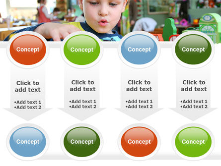 Kid Playing In Kindergarten PowerPoint Template Slide 18