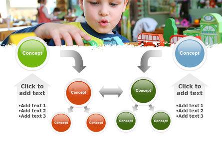 Kid Playing In Kindergarten PowerPoint Template Slide 19