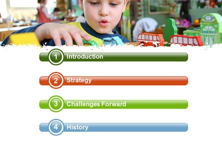 Kid Playing In Kindergarten PowerPoint Template, Slide 3, 05252, Education & Training — PoweredTemplate.com