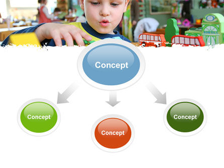 Kid Playing In Kindergarten PowerPoint Template, Slide 4, 05252, Education & Training — PoweredTemplate.com